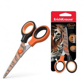 Ciseaux ErichKrause® Junior Decor Tigre avec impression sur lames - 13 cm (14599)(4041485145998)