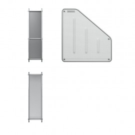 Porte-Papier Vertical En Métal ErichKrause® Compass - Silver (22510)