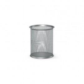 Porte-Stylo Cylindrique en Métal ErichKrause® Compass - Silver (22502)