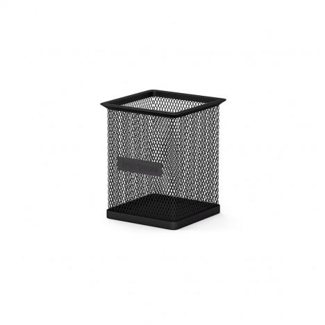 Porte-stylo carré en métal ErichKrause® Compass - Noir (22503)