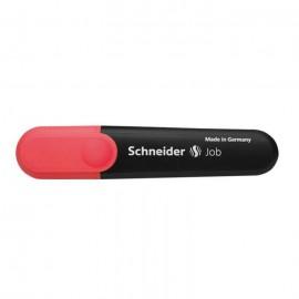 Pack De 10 Surligneurs SCHNEIDER Job à encre fluorescente -ROUGE (150RO)