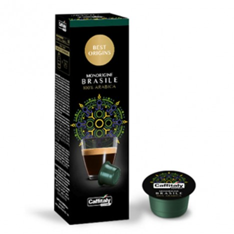 Paquet de 10 Capsules à Café CAFFITALY Monorigine Brasil (CAFFITALY-Monorigine Brasil)