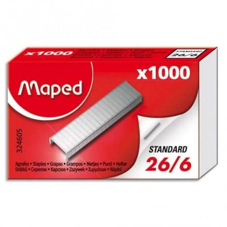 AGRAFES 26/6 MAPED Boite de 1000 (324605)