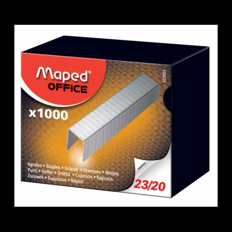 Agrafes Maped 23/20 Galvanisé Boîte de 1000 (323805)