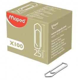 Boîte De 100 Trombones MAPED 25 mm (032010)