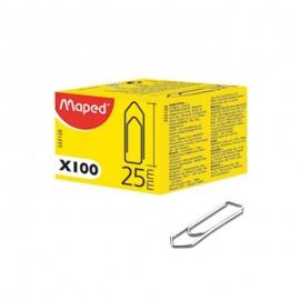Boîte De 100 Trombones Medium MAPED 25 mm (322120)