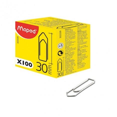 Boîte De 100 Trombones Medium MAPED 30 mm (322220)