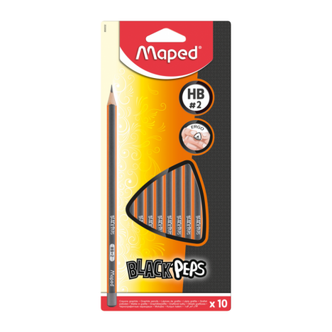 Crayons MAPED Graphite HB X10 - (850032)