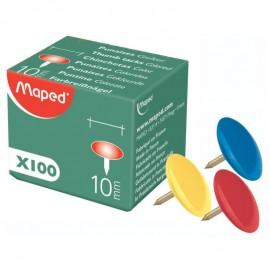 Punaise Couleur MAPED 10mm - 100 Piéces (31002)