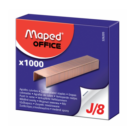 AGRAFES MAPED 8MM J/8 CUIVREES - BOITE DE 1000 (326205)