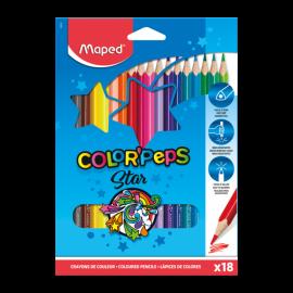 Pack de 18 Crayons couleurs MAPED 18/18 - (183218)