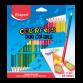 Pack de 24 Crayons MAPED couleurs Duo (829602)