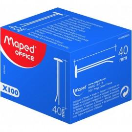 Boîte De 100 Attache Parisienne MAPED 40 mm- (33040)