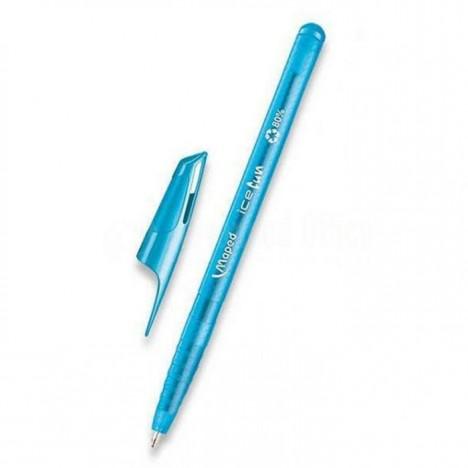 Pack De 10 Stylo à Bille MAPED Ice Fun -Bleu ciel (224550)