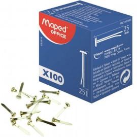 Boîte De 100 Attache Parisienne MAPED 25 mm- (33010)