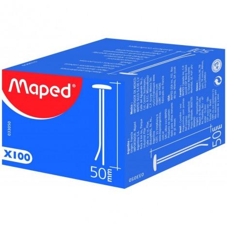 Boîte De 100 Attache Parisienne MAPED 50 mm - (33050 )