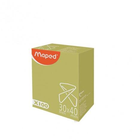 Boîte De 100 Attaches Croisées MAPED 30 x 40 mm (34701)