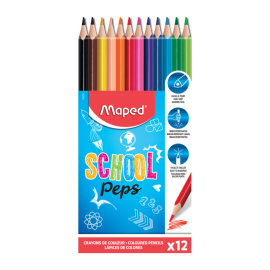 Crayons MAPED Coul school peps - (832030)