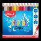 Boite de 24 Crayons MAPED Couleur SCHOOL'PEPS - (832034)