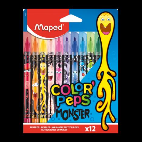Pochette de 12 Feutres MAPED Monster - (845400)