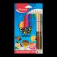 Boite de 12 +3duo Crayon MAPED Color'peps Tons Peau -(832071)