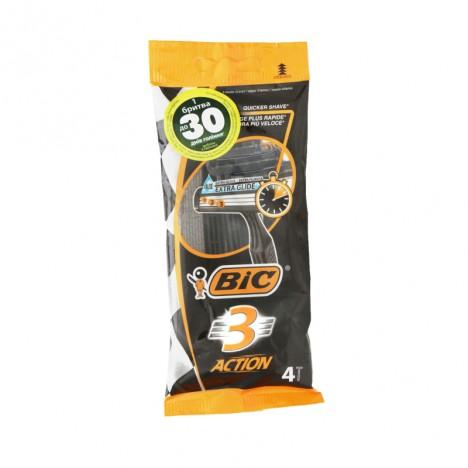 Rasoir BIC 3 Action Pouch de 4 - (3086123356566)