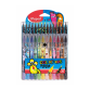 Pochette12 Feutres +15 Crayons MAPED Couleurs Monster - (984718)