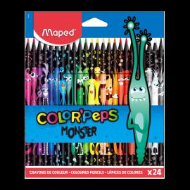 Boite de  24 Crayon MAPED Couleur Black Monster - (862624)