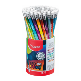 Pot 72 Crayons MAPED Graphite Woodfree HB - (852002)