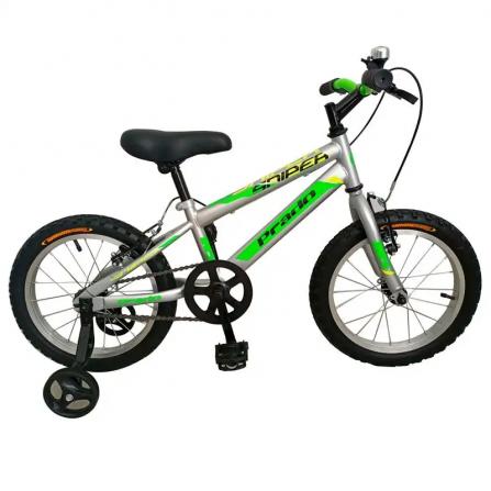 "Bicyclette PRADO SNIPER 16"" Pour Garçon - Gris&Vert (6016 PG)"