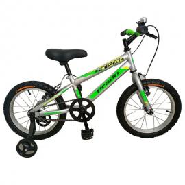 "Bicyclette PRADO SNIPER 16"" Gris&Vert (6016 PG)"