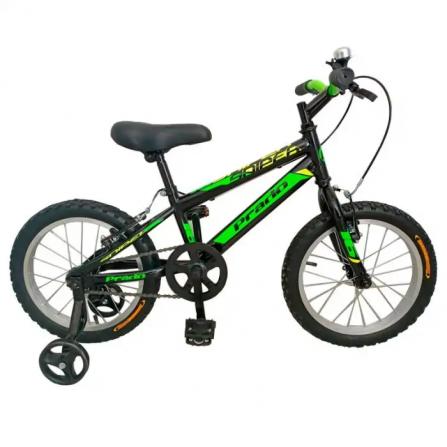 "Bicyclette PRADO SNIPER 16"" Pour Garçon - Noir&Vert (6016 PG)"