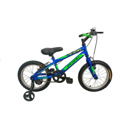 "Bicyclette PRADO SNIPER 16"" Bleu&Vert (6016 PG)"