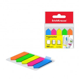 Stick-Note ErichKrause® Neon Arrows, 12x44 mm, 100 feuilles, 5 couleurs (31178)(4041485311782)