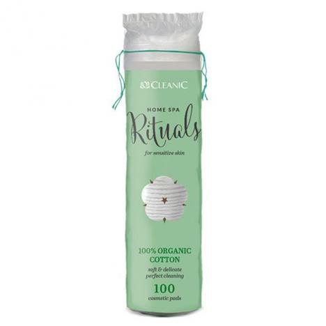Cotton Disque CLEANIC  Organic cosmetics pads -100 pcs (5900095024668)