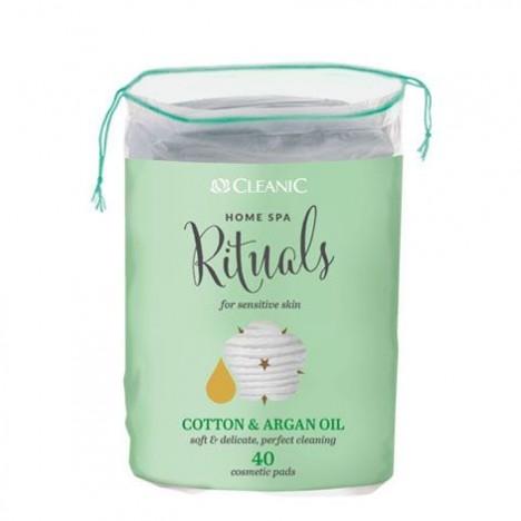 Cotton Disque CLEANIC 40 pcs-A L'huile d'argan (5900095024682)