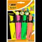 Pochette de 4 Surligneurs BIC Highlighter Flat - (461277)
