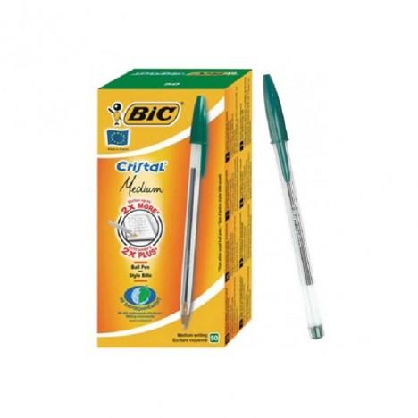 Pack de 50 Stylo à bille Cristal Medium BIC / Vert (070330129641)