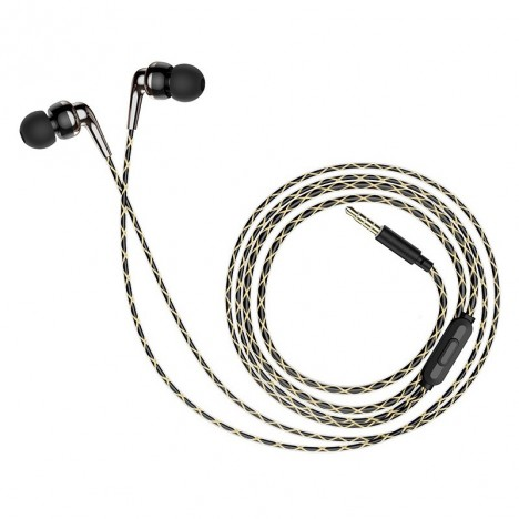 Ecouteur HOCO M71 MP3 avec Micro - Noir (M71-BK)