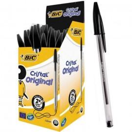 Pack de 50 Stylos à Bille BIC Cristal Original 1.0 mm - Noir (913230B20-50)