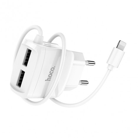 CHARGEUR HOCO C59A IPHONE 2.1A - Blanc (C59A-WH)