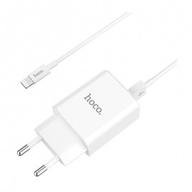 CHARGEUR HOCO C62A IPHONE 2.1A - Blanc (C62A-WH)