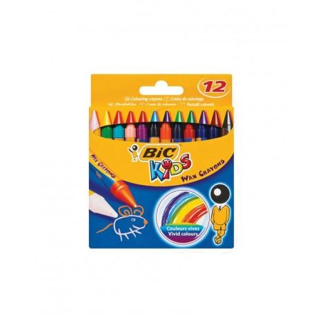 Pastel BIC KIDS WAX CRAYON BX12 MEA (3086126616834)