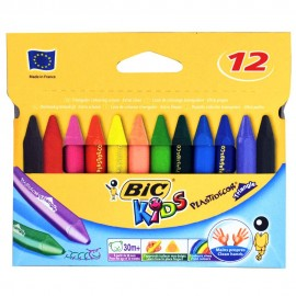 Pastel Bic Kids PLastidecor Box de 12 (3086124000789)
