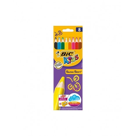 Crayon Coloriage Bic Kids SUPERSOFT 8/18 (3086123277052)