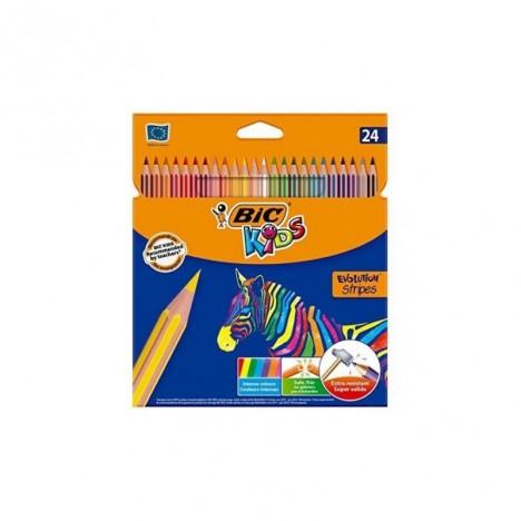 Crayon Coloriage Bic Kids Evolution Stripes 24 (3086123499133)