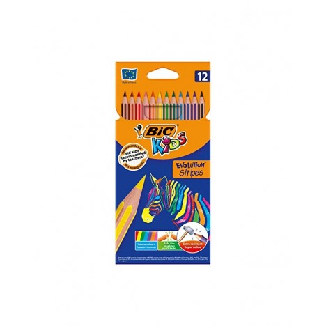 Crayon Coloriage Bic Kids Evolution Stripes 12 (3086123499102)