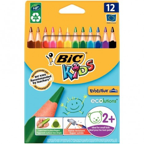 Crayon Coloriage Bic Evolution Triangulaire Box de 12 (001632)