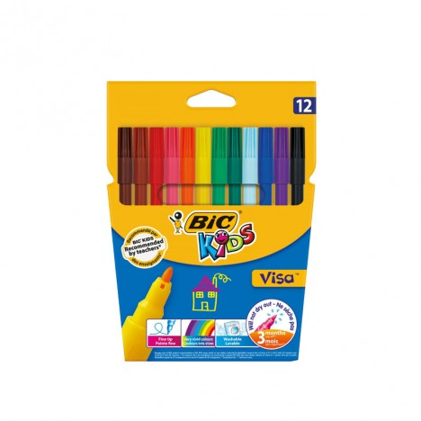 Feutres Coloriage Bic Kids VISA 12 (3270220002758)