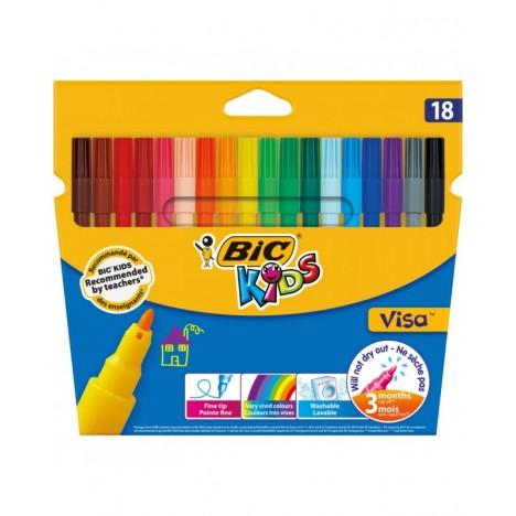 Feutres Coloriage Bic Kids Visa 18 (3270220002765)